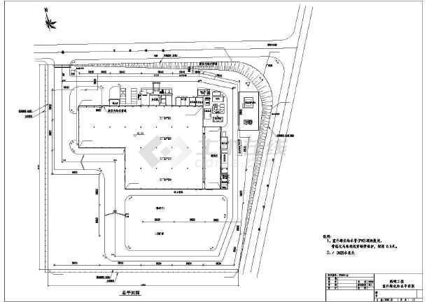 某钢制所室外给排水设计图-图一