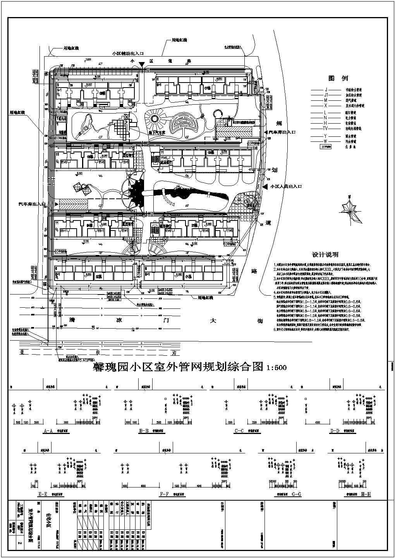 某住宅小区室外管网规划综合图图片1