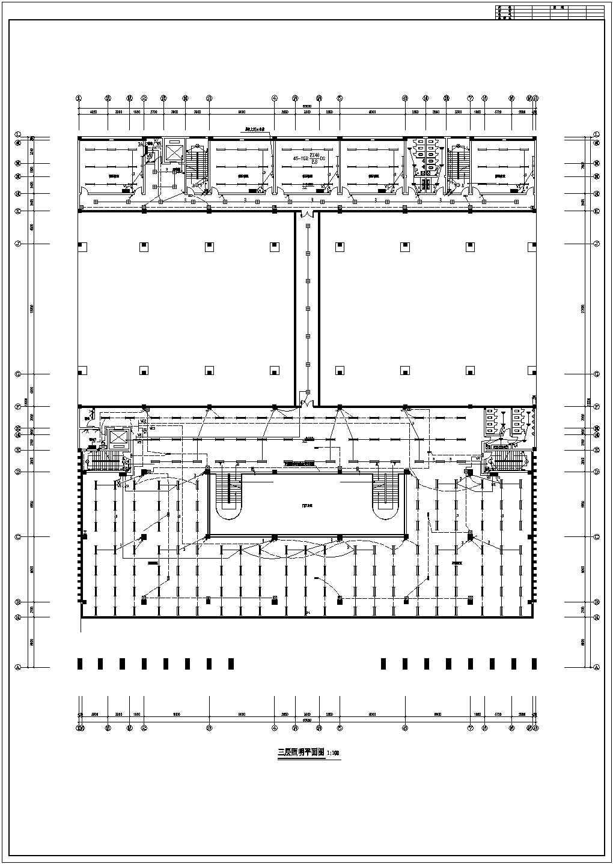 某四层学校图书馆电气设计施工图纸图片1