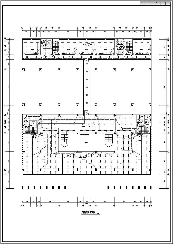 某四层学校图书馆电气设计施工图纸图片2