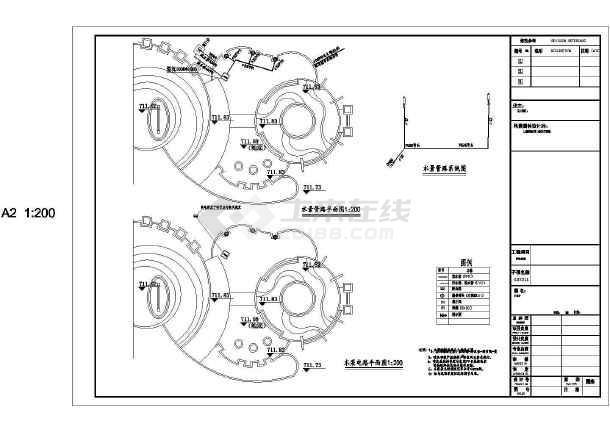 居住小区园林景观水电设计施工图纸-图一