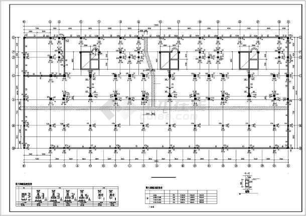 某框架小高层基础图(带肋梁筏板基础)-图一