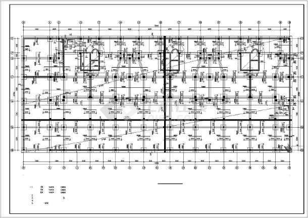 某框架小高层基础图(带肋梁筏板基础)-图二