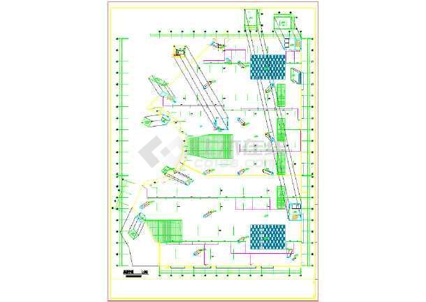 70008平方米大型SHOPMALL给排水设计图-图一