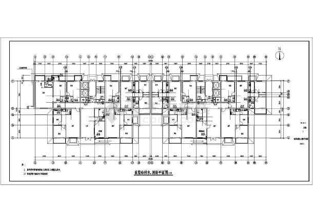河南某12层住宅给排水图纸-图二