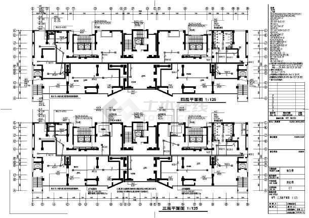 点击查看某地上二十四层商住楼电气全套详图(一级负荷)第1张大图