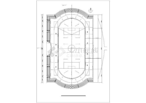 某大型体育场给排水设计图纸-图一