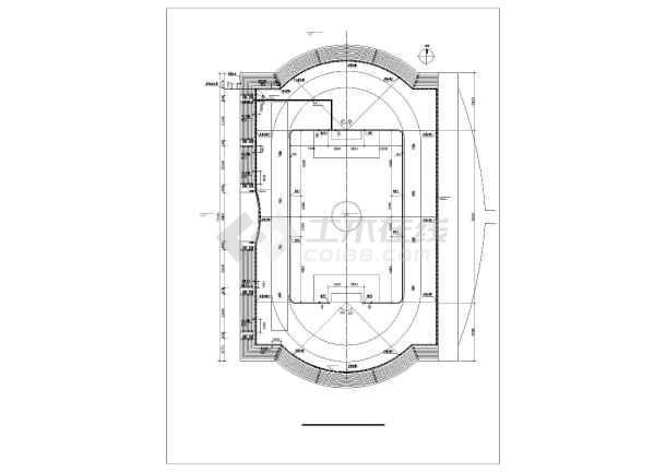 某大型体育场给排水设计图纸-图1
