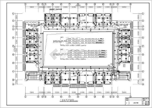某1360㎡地上两层商住楼电气施工图(含车库)-图二