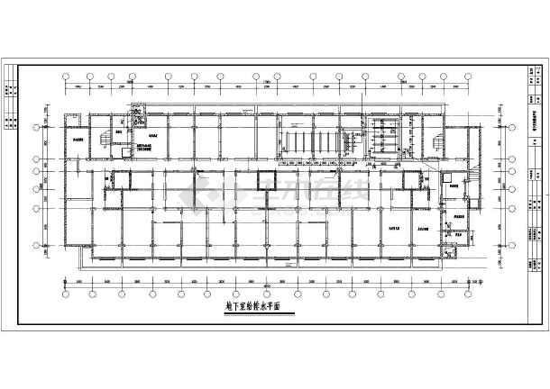 邯郸某10层住宅楼给排水图纸-图二