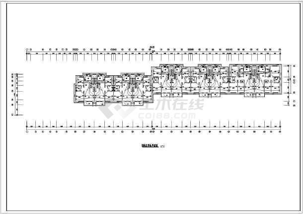 某五层商住楼电气施工图(三级负荷)-图1