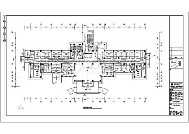 [内蒙古]17975.96㎡三层精神康复医院门诊医技病房楼电气全套施工图含计算书-图1