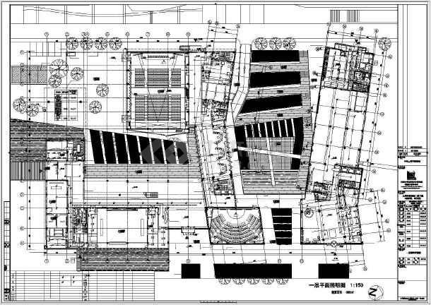 [上海]某学院楼及教学楼电气施工图纸(含动力、照明及变电所图纸)-图1