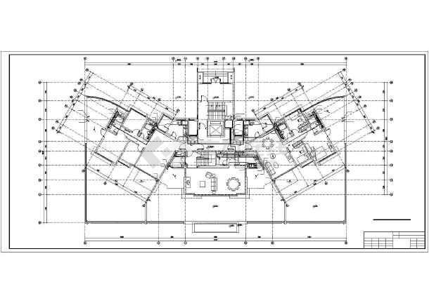 某11层塔式住宅给排水设计图-图1