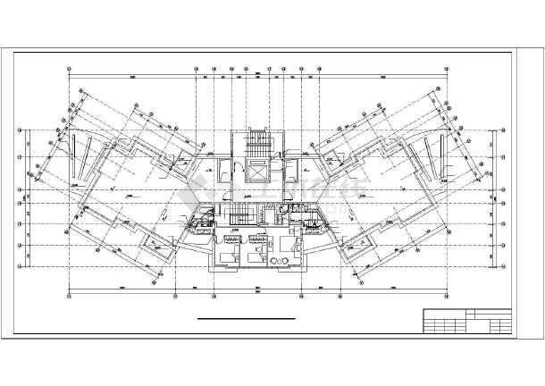 某11层塔式住宅给排水设计图-图3