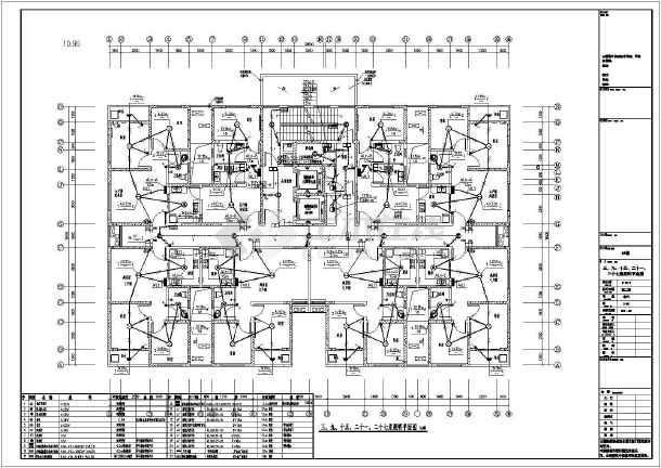点击查看知名房产小区一类高层住宅楼全套电气施工图纸(机房工程)第2张大图