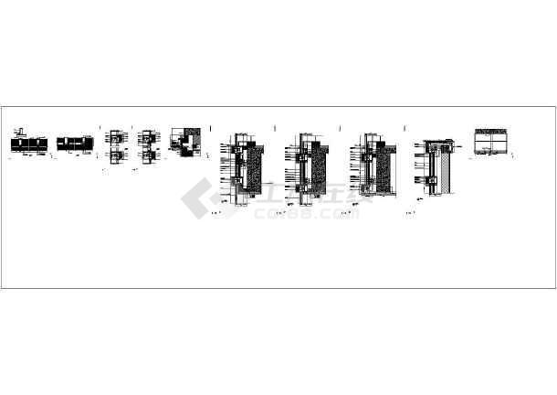 [江苏]框剪结构高层酒店商务楼与多层框架结构会议中心结构施工图(含全套幕墙结构)-图一