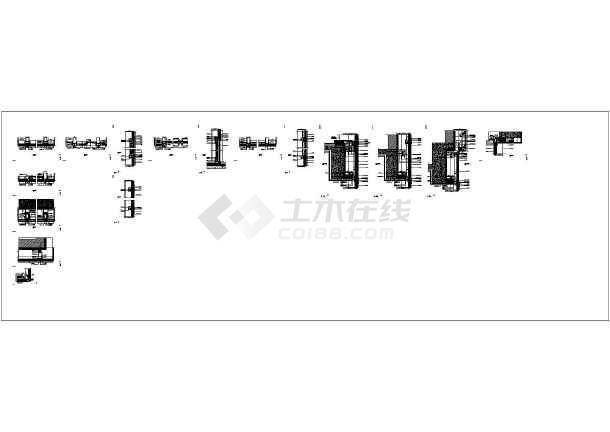 [江苏]框剪结构高层酒店商务楼与多层框架结构会议中心结构施工图(含全套幕墙结构)-图二