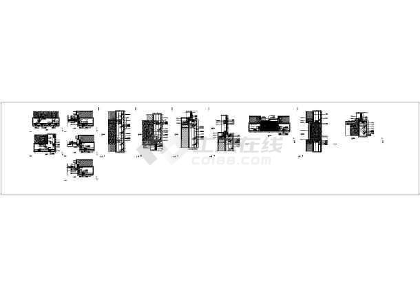 [江苏]框剪结构高层酒店商务楼与多层框架结构会议中心结构施工图(含全套幕墙结构)-图3