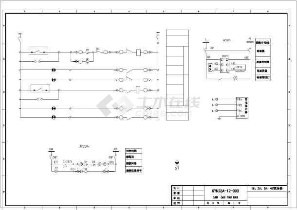 点击查看某医院KYN28中置柜电气图纸第1张大图