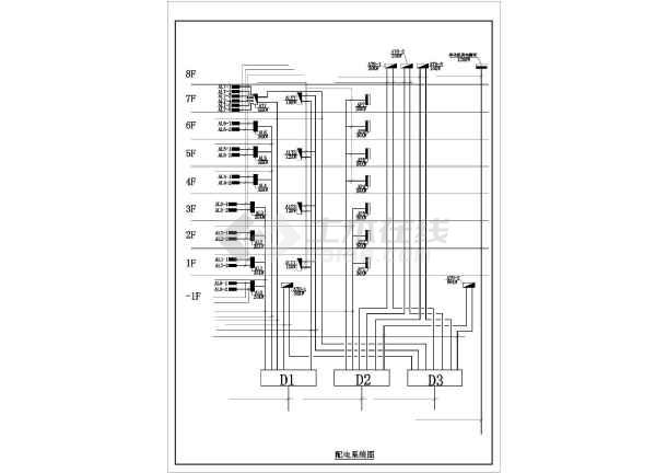 某八层医院电气配电设计图-图一