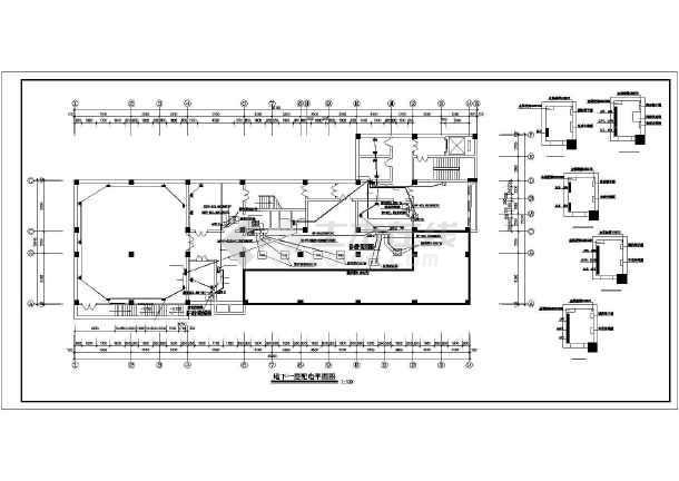 某八层医院电气配电设计图-图二