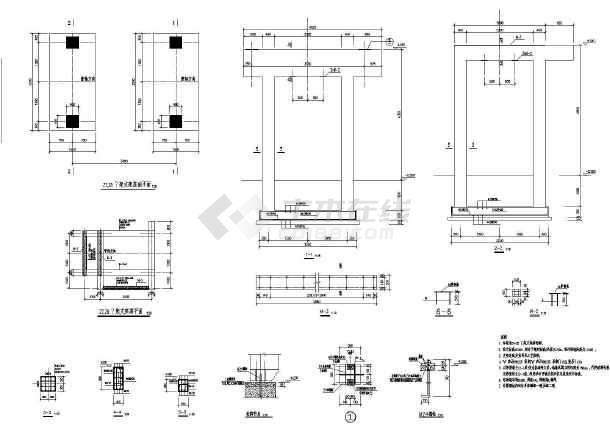 某综合管架结构设计图(共9张图)-图一