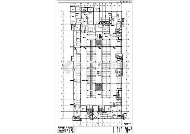 东北某十八层综合大厦(带换热站)-住宅楼梯放大图-图一