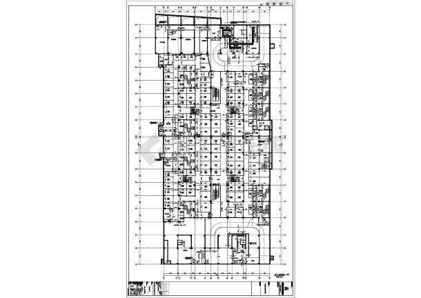 东北某十八层综合大厦(带换热站)-住宅楼梯放大图-图二