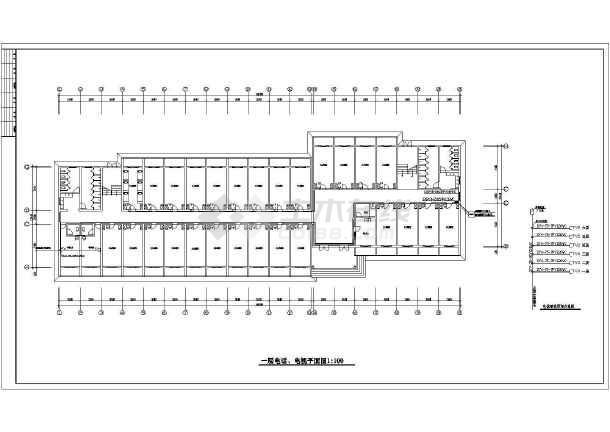 学院宿舍楼电气施工图纸-图二