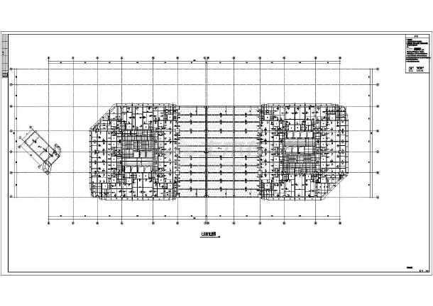某110754㎡商业步行街四十五层双子星大厦结构施工图(152米)-图二