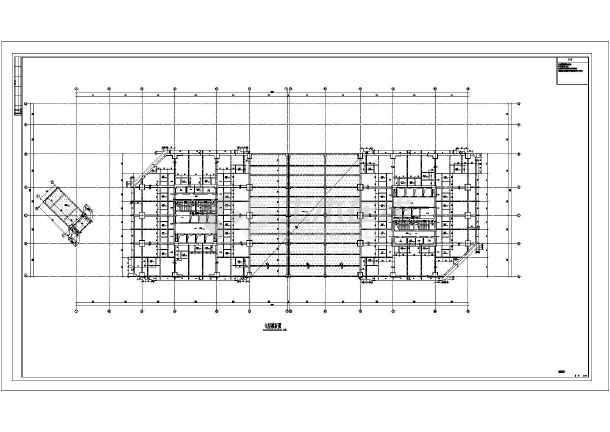 某110754㎡商业步行街四十五层双子星大厦结构施工图(152米)-图2
