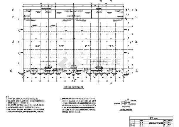 点击查看污水处理厂各建筑物及构筑物结构施工图第1张大图