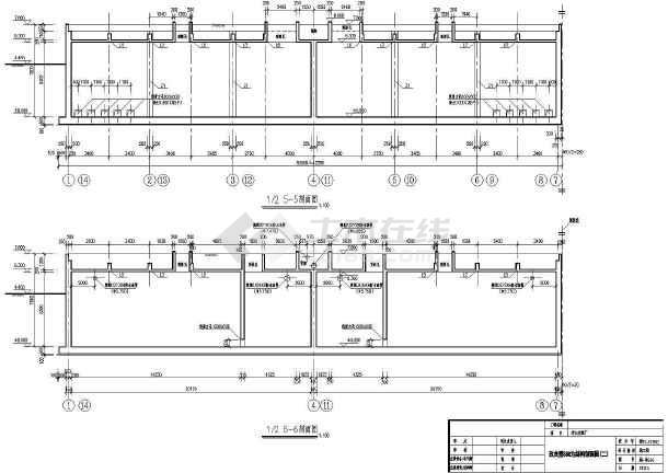 点击查看污水处理厂各建筑物及构筑物结构施工图第2张大图