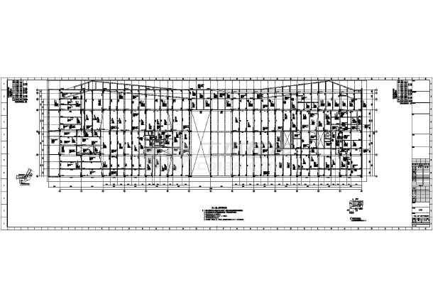 [浙江]地上八层与九层框架剪力墙结构办公大厦结构施工图(2015年06月出图)-图二