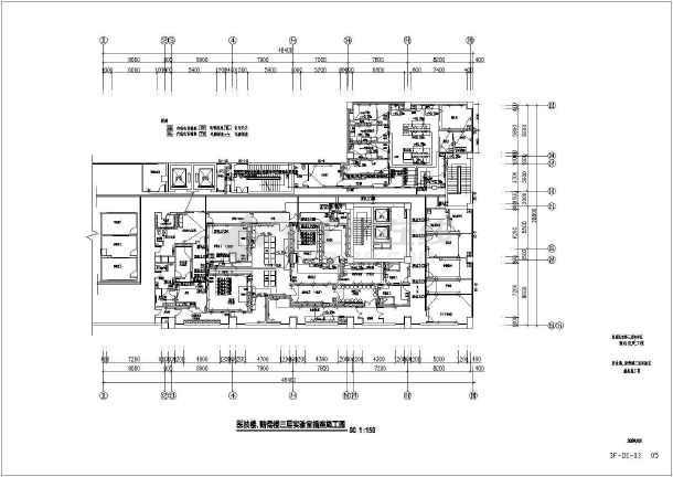 某医院实验室装修电气图纸-图二