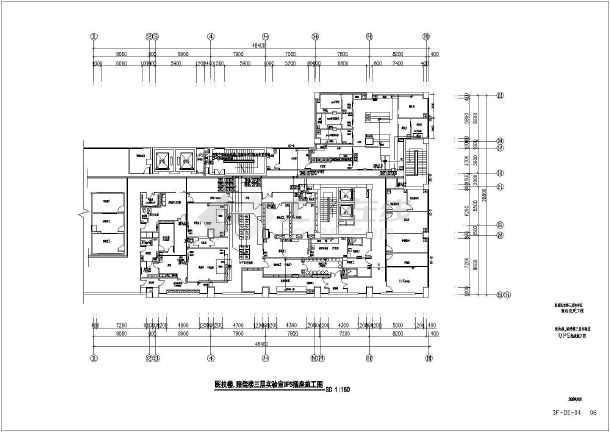 某医院实验室装修电气图纸-图3
