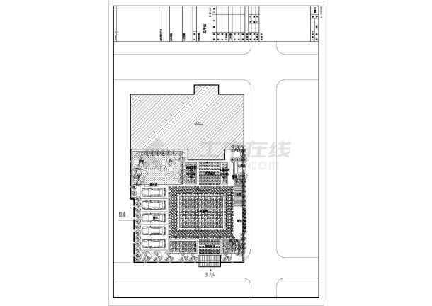 [江西]840平方米四层异形柱框架结构别墅结构施工图(含建筑图)-图1