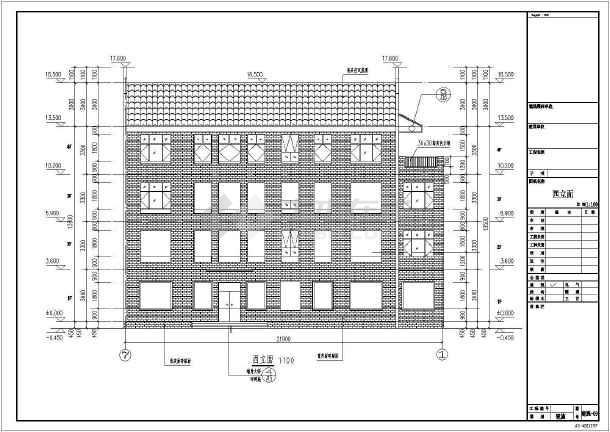 [江西]840平方米四层异形柱框架结构别墅结构施工图(含建筑图)-图3