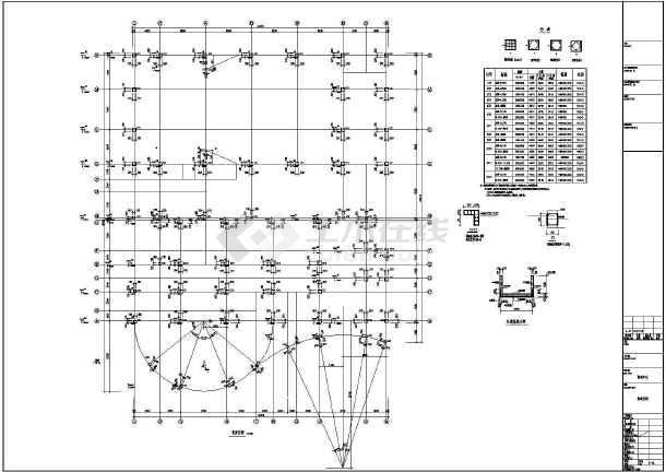 [江西]地上五层现浇框架结构培训中心结构施工图-图一