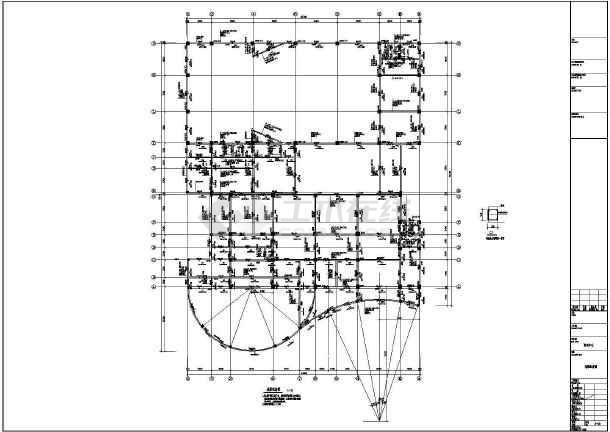 [江西]地上五层现浇框架结构培训中心结构施工图-图1