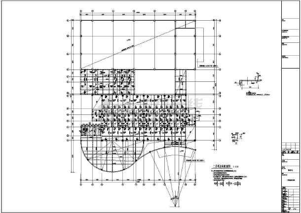 [江西]地上五层现浇框架结构培训中心结构施工图-图3