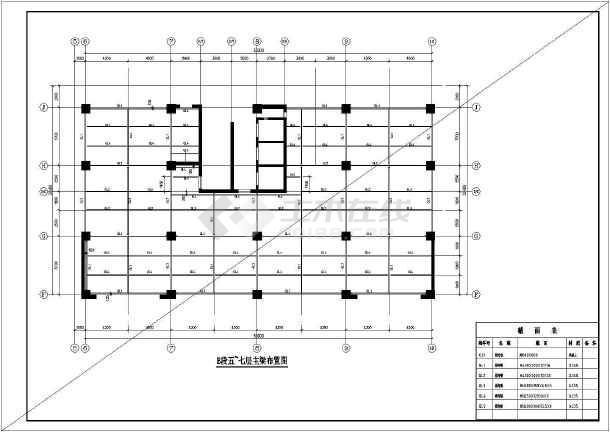 原建筑增加钢结构夹层施工图,含施工说明-图一