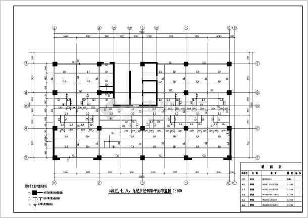 原建筑增加钢结构夹层施工图,含施工说明-图1