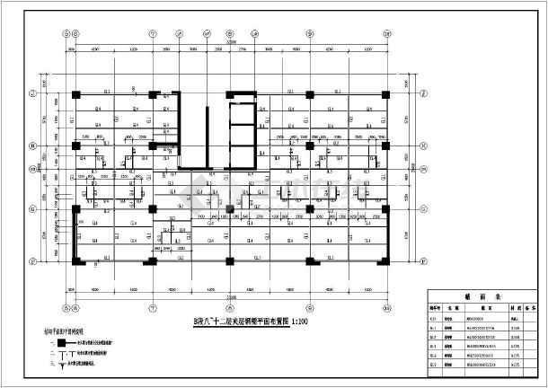 原建筑增加钢结构夹层施工图,含施工说明-图3