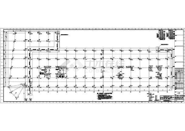 [浙江]两栋地上八层框架剪力墙结构办公大厦结构施工图(2015年06月出图)-图一