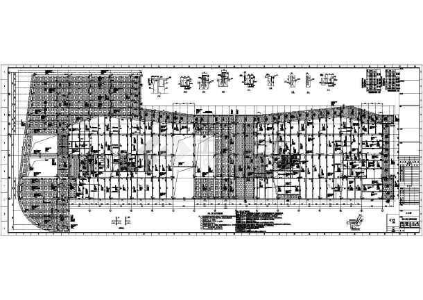 [浙江]两栋地上八层框架剪力墙结构办公大厦结构施工图(2015年06月出图)-图1
