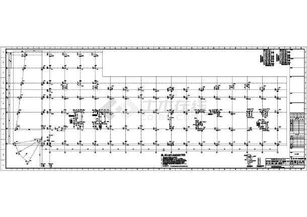 [浙江]两栋地上八层框架剪力墙结构办公大厦结构施工图(2015年06月出图)-图2