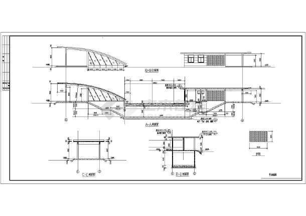 【深圳】某地下通道结施图(含建筑施工图)-图1