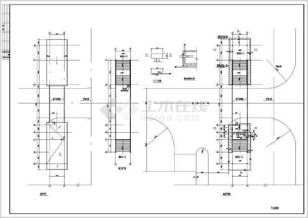 【深圳】某地下通道结施图(含建筑施工图)-图2